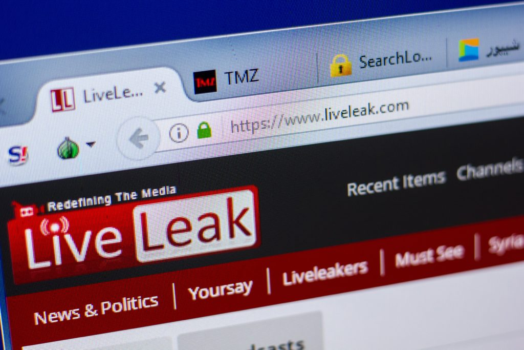List of top websites for sharing and sending large video files: LiveLeak